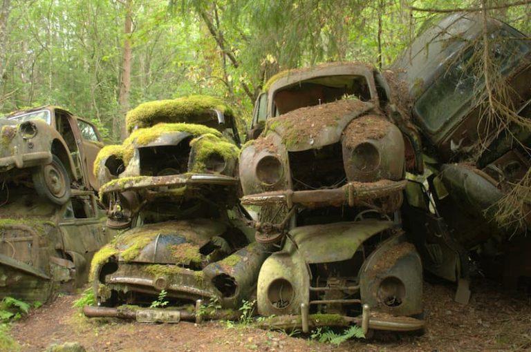 Baja temporal de un coche en Asturias